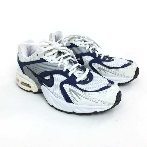 7089219fad01 Nike Air Mens 8.5 White Silver Blue Dad Shoes. M 5b21922c3c984477dc0f1777